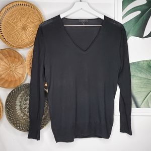 J. Crew Black Label Merino Wool V Neck Sweater